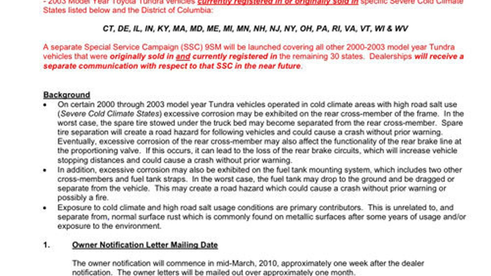 The Tundra Frame Rust Recall Service Bulletin You\'ll Soon Be Seeing ...