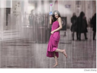 Illustration for article titled In the Future, Your Umbrella Will Be Half-Vibrator, Half-Airgun