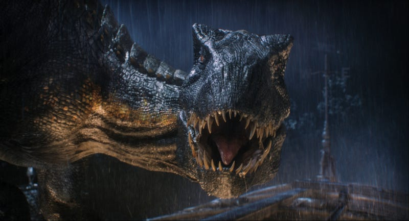 The Indoraptor goes on the prowl in Jurassic World: Fallen Kingdom.