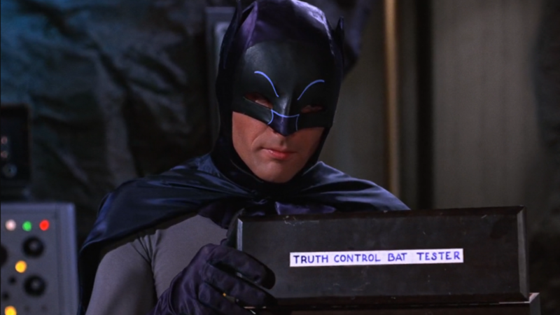 "Illustration for article titled ""Batman '66 Labels"" Collects Every Silly Labeled Device From The Batman TV Show"