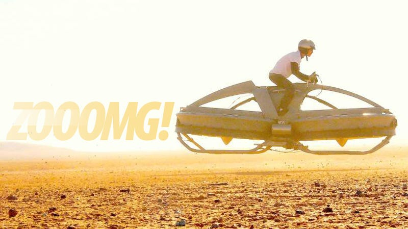 Illustration for article titled They Finally Made a Flying Star Wars Speeder Bike!