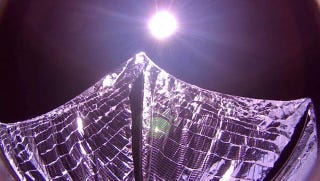 Illustration for article titled Here's Proof That the LightSail Satellite Has Unfurled Properly