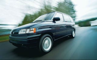 Illustration for article titled The 1989 Mazda MPV was the world's first 3-row crossover