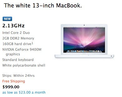Illustration for article titled White MacBooks Upgraded With Faster Processors, More Space, Faster RAM