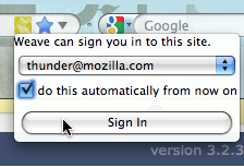 Illustration for article titled Mozilla Weave to Integrate Auto-Login with Firefox