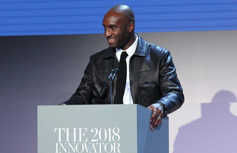 Virgil Abloh speaks on stage at the WSJ. Magazine 2018 Innovator Awards Sponsored By Harry Winston, FlexJet & Barneys New York - Inside at MOMA on November 7, 2018 in New York City.