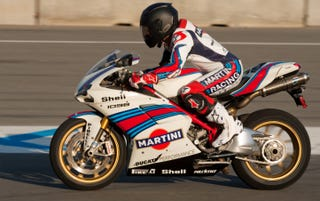 Illustration for article titled Martini Livery Ducati looks amazing.