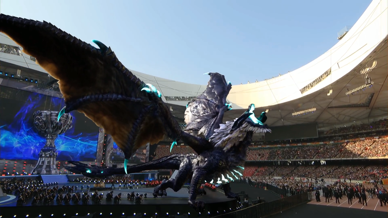 Illustration for article titled League of LegendsWorld Finals Had A Freaking Dragon