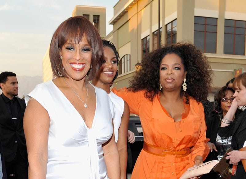 Gayle King and Oprah Winfrey attend the 45th NAACP Image Awards presented by TV One at Pasadena Civic Auditorium on Feb. 22, 2014, in Pasadena, Calif. (John Sciulli/Getty Images for NAACP Image Awards)