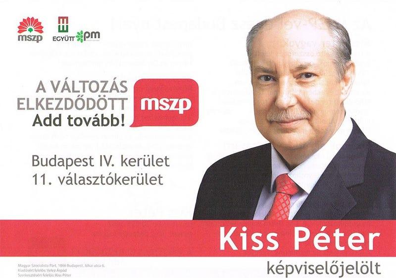 Illustration for article titled Nevettél már ma? A változás szimbóluma Kiss Péter