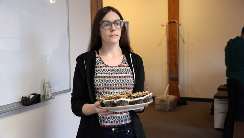 Illustration for article titled Excitement Shifts To Concern After Coworker Brings Baked Goods Into Office For Fourth Consecutive Day