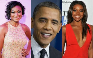 Tatyana Ali (John W. Ferguson/Getty); Barack Obama (Saul Loeb/AFP/Getty);Gabrielle Union (Fernando Leon/Getty)