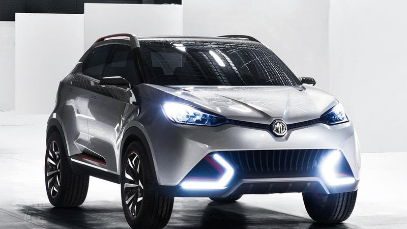 Illustration for article titled The MG CS SUV Concept Is A Far Cry From An Old British Roadster