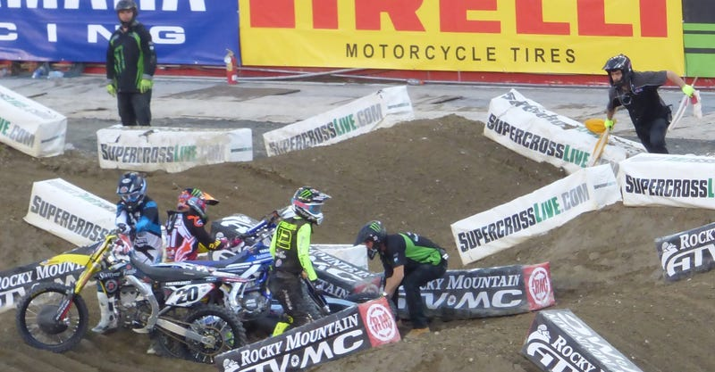 Crash at AMA Supercross