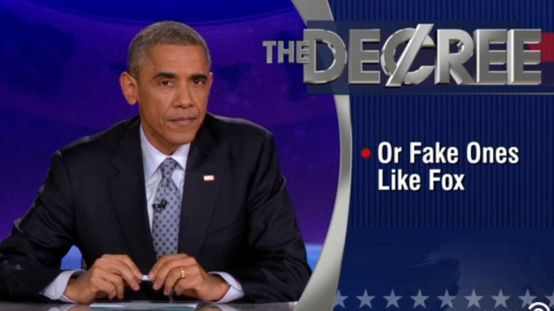 Illustration for article titled Watch President Obama take over The Colbert Report