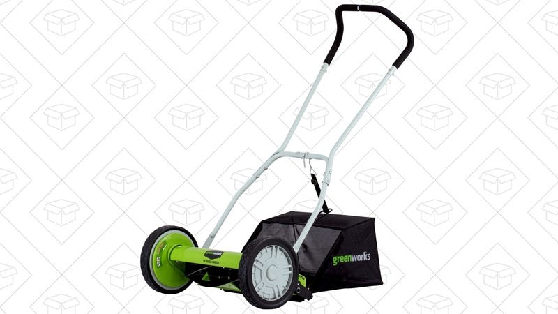 "GreenWorks 16"" Reel Lawn Mower 