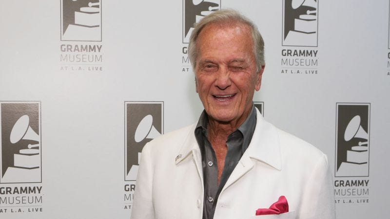 Pat Boone, secure in the knowledge that his mom was a lovely woman who would never stand on a chair to raise her IQ (Photo: Getty Images)