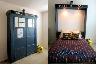 Illustration for article titled This Doctor Who TARDIS Bed Is Literally Bigger On The Inside