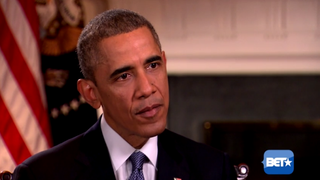President Barack Obama during interview with BET network that aired Dec. 8, 2014.YouTube Screenshot