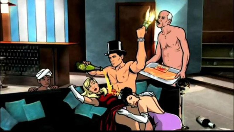 Archer promotes its fifth season by posting nude pictures on Reddit