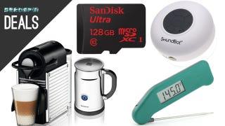 Illustration for article titled Deals: Tiny Nespresso Machine, Bluetooth Shower Speaker, Thermapen