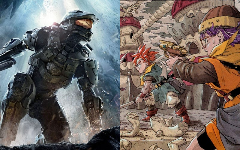 Illustration for article titled Halo and Chrono Trigger Collide In the Newest Episode of Super Gaming Quiz