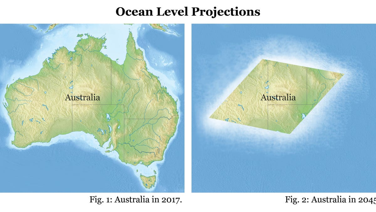 Cartographers rejoice rising ocean levels are on track to turn rising ocean levels are on track to turn australia into an easy to draw rhombus gumiabroncs Gallery