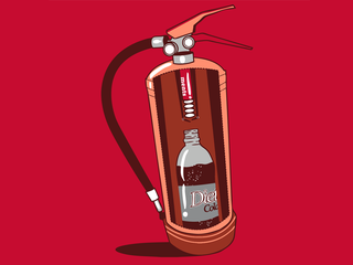 Illustration for article titled How Fire Extinguishers Really Work (T-Shirt)