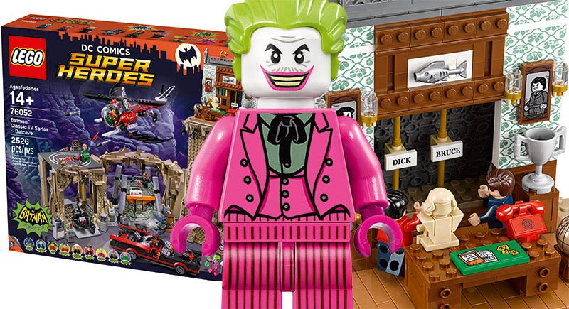 Illustration for article titled The LEGO Classic TV Series Batcave Has All The '60s Batman