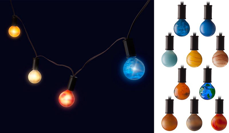 Lovely Solar System Lighting Part - 2: The Solar System Is Always Visible At Night With These Planetary String  Lights