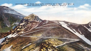 Illustration for article titled Watch The Insanity Of The 1957 Pikes Peak Hill Climb