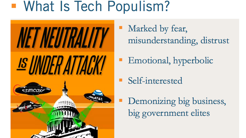 "Image: ITIF slideshow, ""How Tech Populism Is Undermining Innovation."" Source."