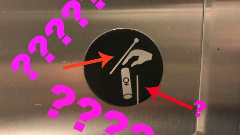 Illustration for article titled Where Were You When You Realized What Those Sticks On the Tampon Sign in the Bathroom Are?