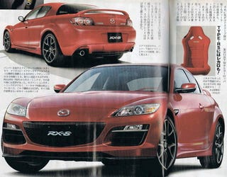 Illustration for article titled Detroit Auto Show: Scan Of Facelifted RX-8 Leaks Onto The Web