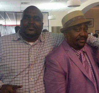Terence Crutcher and his fatherFacebook