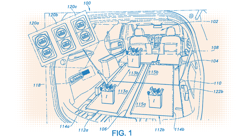 Illustration for article titled Ford Patents Conveyor Belts for SUV Cargo Areas So You Don't Have to Crawl in and Possibly Expose Your Butt to Everyone