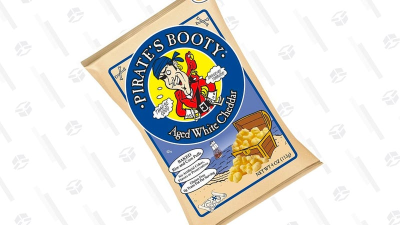 Pirate's Booty, Aged White Cheddar, 4-Ounce Bags | $14 | Amazon