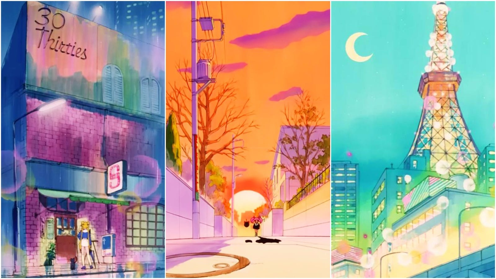 Sailor Moon Anime Backgrounds Are Beautiful