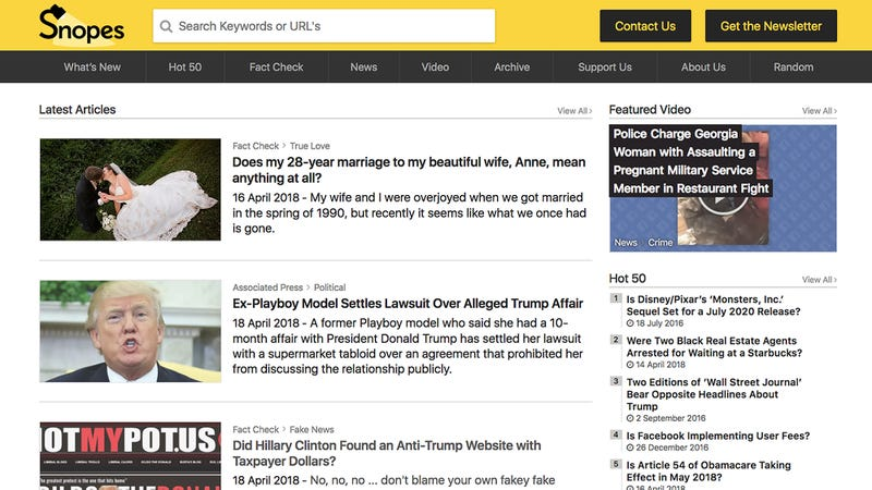Illustration for article titled Absolutely Heartbreaking: The Editor Of Snopes Just Listed His Marriage Of 28 Years As A Hoax
