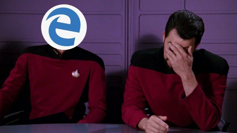 Illustration for article titled Un empleado de Microsoft instala Google Chrome en mitad de una presentación porque Edge se había colgado