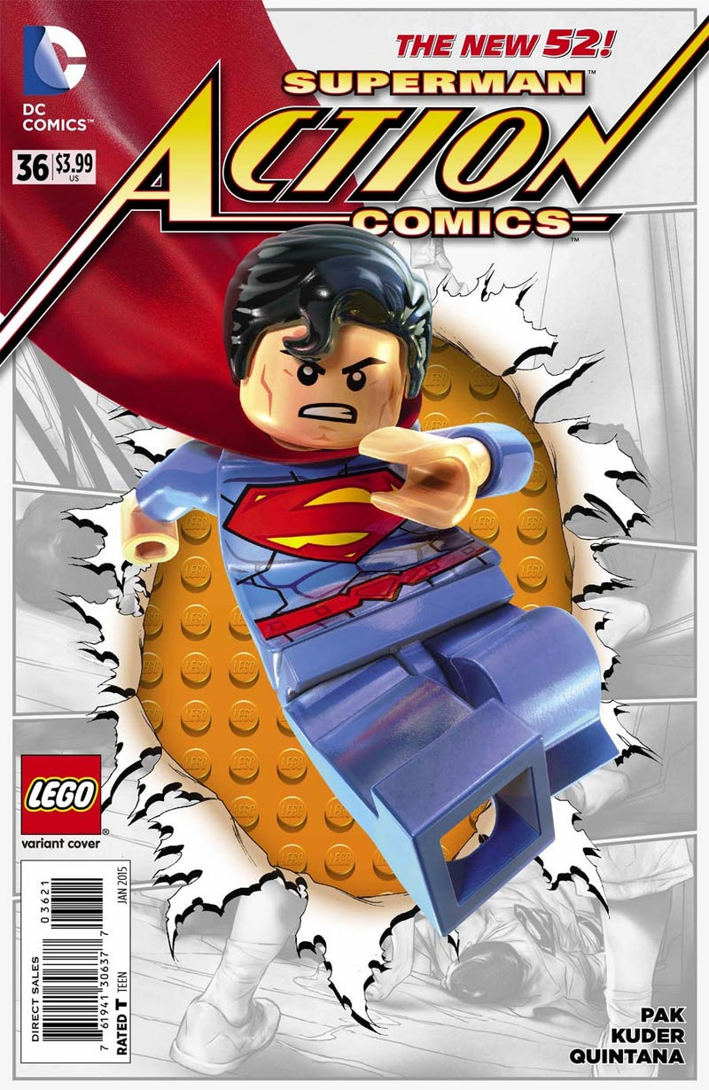 Illustration for article titled DC Comics Lego Variants in stores now. New comic book day!