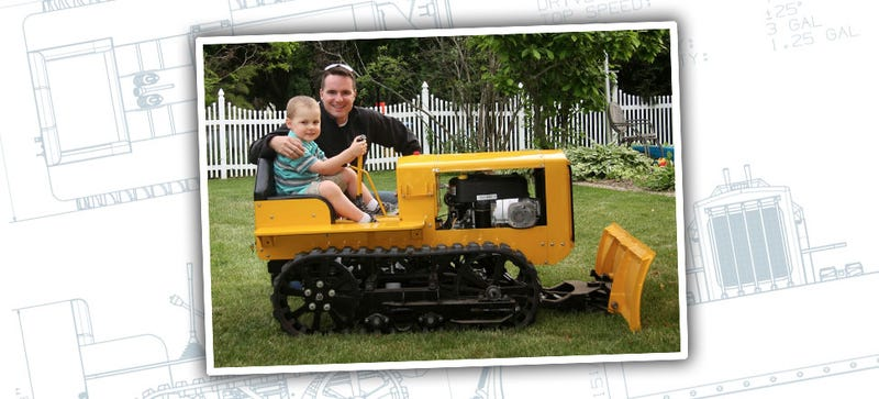 Illustration for article titled Amazing Dad Builds Kids Working Bulldozer, All Other Dads Shamed