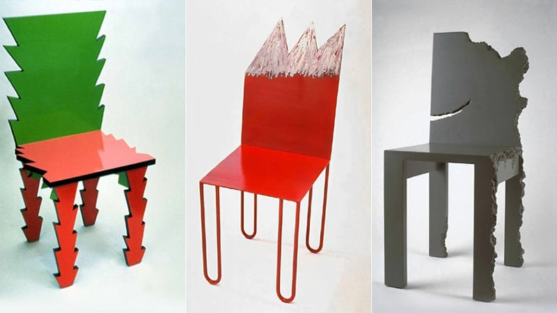 Oddball 80s chairs that 39 ll make you say beetlejuice three for 1980s chair design