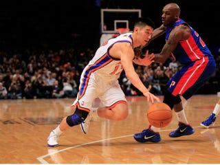 Jeremy Lin, left (Chris Trotman/Getty Images)