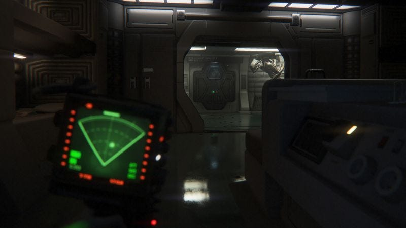 Illustration for article titled Alien: Isolation is a stunningly realistic locker simulator