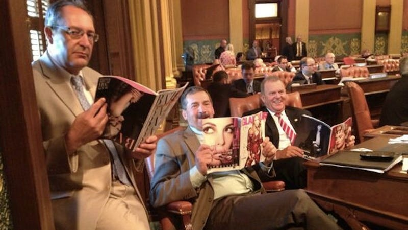 Illustration for article titled Republicans Pose With Ladymags, Claim They Now Understand Women