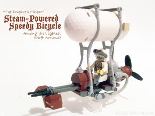 Illustration for article titled Steampunk LEGO Steam Speeder Spurs Swooning Sensations