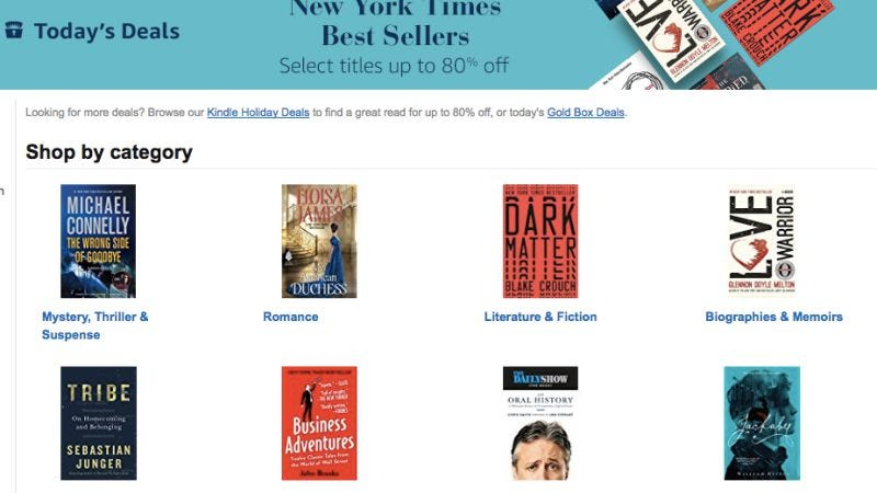 Illustration for article titled Today's best deals: Kindle bestsellers, mechanical keyboards, and more