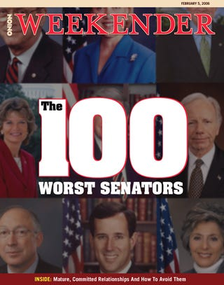 Illustration for article titled The 100 Worst Senators