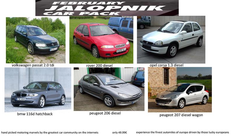 Illustration for article titled February Jalopnik Car Pack